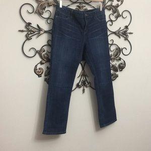 Vera Wang roll cuff jeans size 14 petite